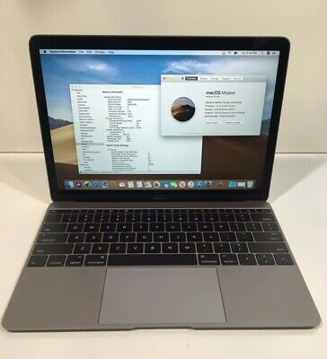 Apple MacBook Laptop (Retina,12-inch, Early 2015) 256GB SSD 8GB RAM - Space Gray