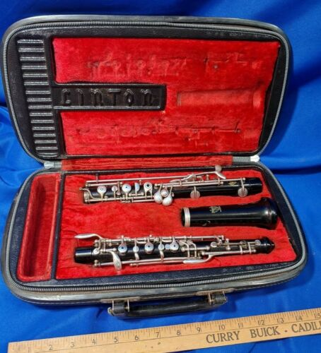 Linton OboeVP24615 in Hard Fabric Lined Case VTG Parts/Repair