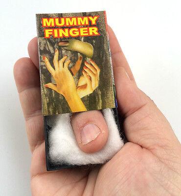 LIVING MUMMY FINGER IN MATCH BOX Moving Halloween Prank Gag Joke Pocket Toy NEW  - Mummy Halloween Joke