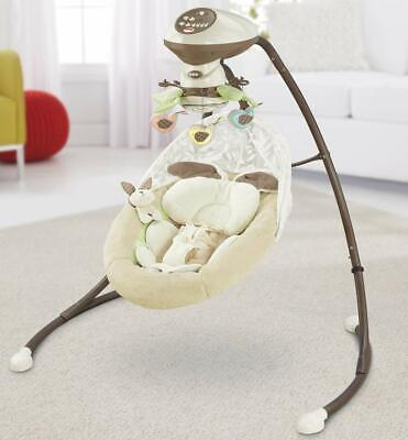 Fisher Price Baby Sweet Snugabunny Dreams Cradle 'n Swing Rocker