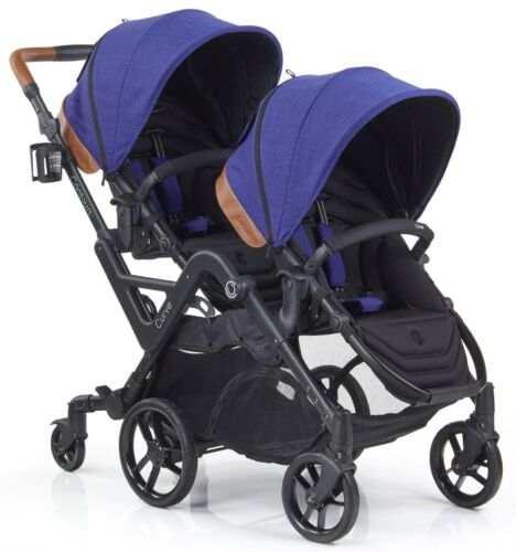 Contours Curve Reversible Seat Twin Double Baby Stroller Indigo Blue NEW 2018