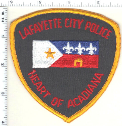 Lafayette City Police (Louisiana) Uniform Take-Off Shoulder Patch early 1980