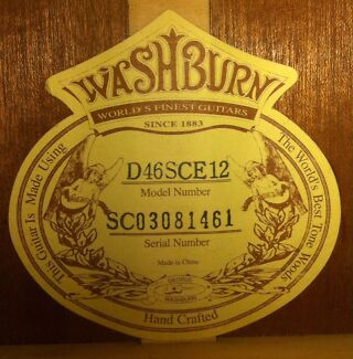 washburn dating serial number