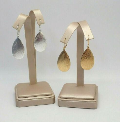Vtg Joan Rivers 2 Pair Gold Silver Tone Dangle Omega Back Pierced Earring Set