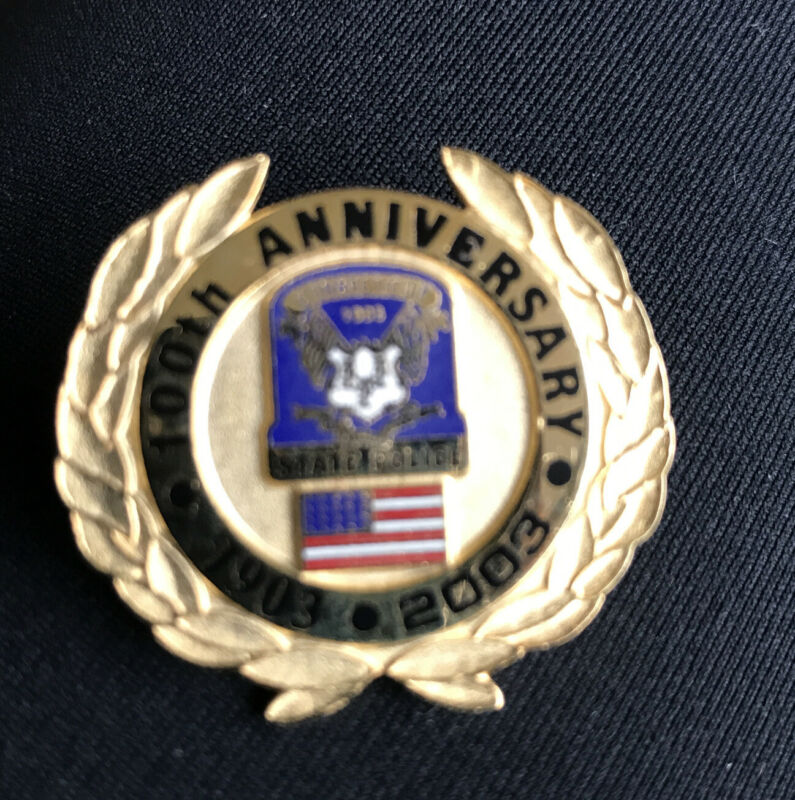 Pin 100Th Anniversary State Police Connecticut Gold Pin 1903 2003