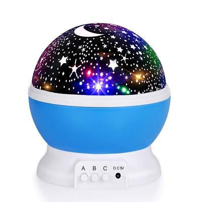 Best Baby Gifts Toys Age 2-10 Night Light Moon Star Rotating Projector for