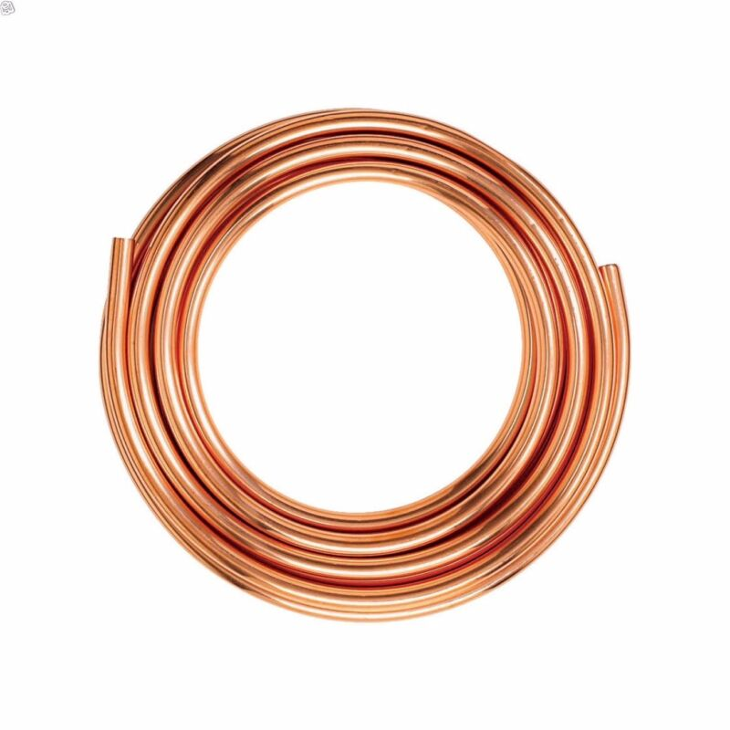 """Any Size Copper Tube 1/4""""- 2"""" Inch Diameter Type K Soft Coil"""