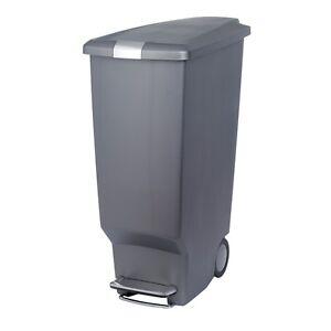 simplehuman plastic slim pedal bin 40 litre black cw1361 ebay. Black Bedroom Furniture Sets. Home Design Ideas
