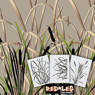 Redleg Camo GK3 3 Piece Grass Wetland camouflage Stencil kit 12