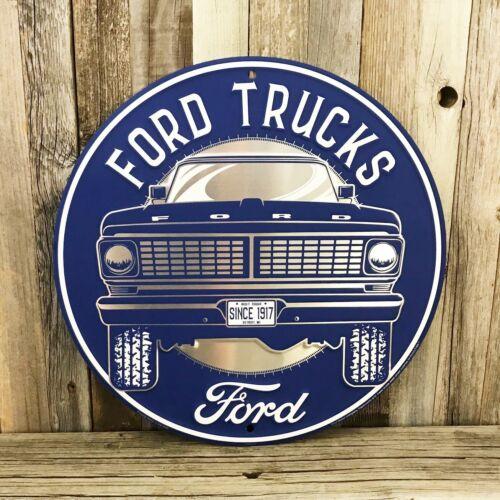 "Ford Trucks F-150 Pickup Embossed Large 12"" Metal Tin Sign Garage Man Cave New"