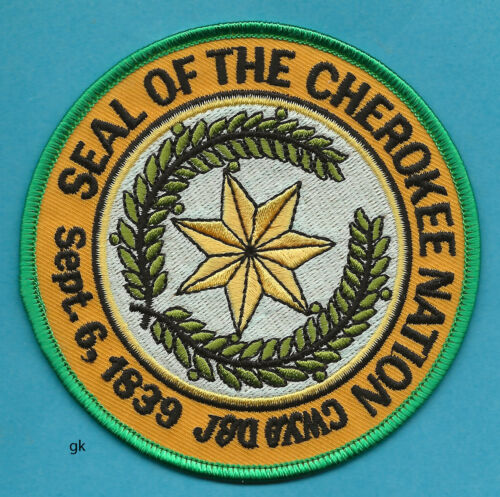 SEAL OF THE CHEROKEE  NATION TRIBAL POLICE SHOULDER PATCH