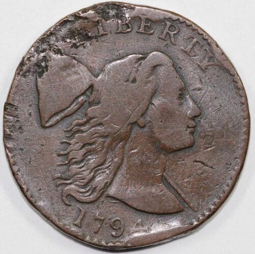 1794 1c Liberty Cap Large Cent UNSLABBED