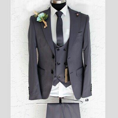 Herren Anzug Elegant 3-teilig Jacke Hose Weste Gr.46-56 Sams Gentleman - Western Anzug Jacke