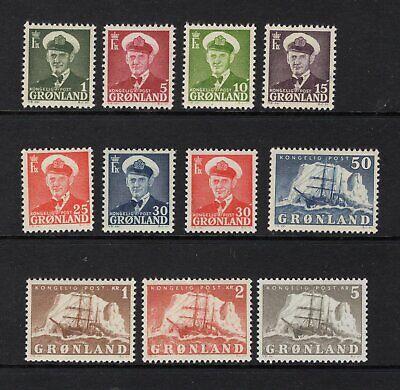 Greenland 1950-60 Complete Set - OG MNH* - SC# 28-38 Cats $116.50