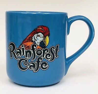 - Rainforest Cafe Parrot RIO Bird Blue Collectible Large Coffee Mug