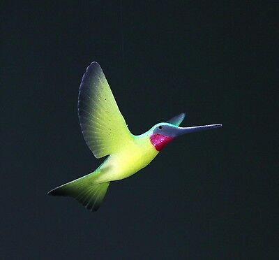 HUMMINGBIRD Mobile Sculpture New direct from JOHN PERRY Statue Green/Yellow