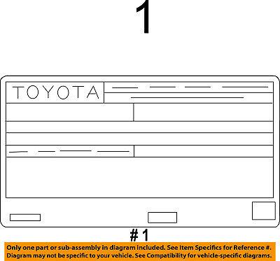 TOYOTA OEM 2013 Corolla Labels-Emission Label 1129837400