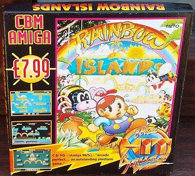 Commodore Amiga 500 600 Rainbow Islands  fully working  Hit Squad small box