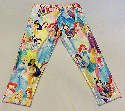 Disney Princess's Polyester Spandex Yoga Pants/Leggings OSFM Adults Ankle Length