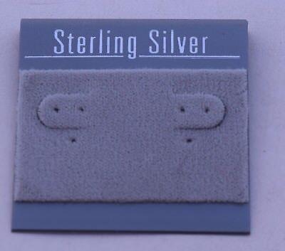 100ct Lot Sterling Silver Grey Felt Plastic Holder Hanging Earrings Display Card