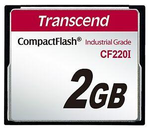 2GB-Transcend-Industrial-Temperature-Range-CF220I-220X-Ultra-CompactFlash-SLC
