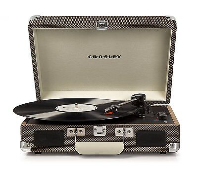 Crosley CR8005D-TW Cruiser Deluxe Portable 3-Speed Turntable with Bluetooth New