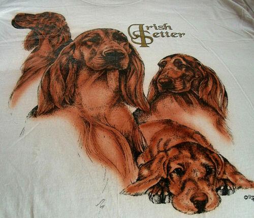 """Irish Setter T-shirt """" White """" SM ( 34 ~ 36 )"""