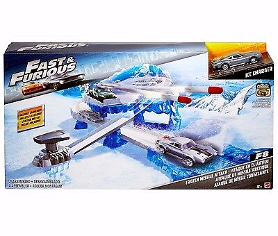 Fast & Furious Hot Wheels Track Launcher / Missile Attack Playset w/ Charger Car