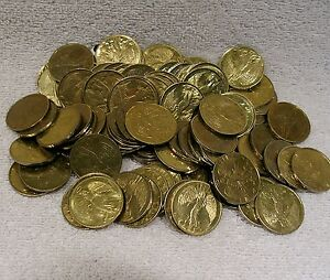 Pocket Guardian Angel - Used Set of 10 (Ten)  Coin Medal Token Protection & Luck