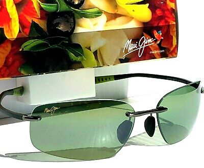 NEW* Maui Jim KUPUNA Titanium w POLARIZED HT Green lens Sunglass Mala (Maui Jim Green Sunglasses)