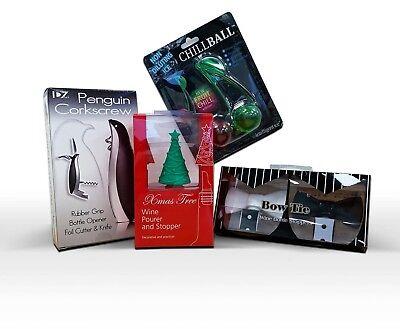 Vino Accesorios Paquete Media de Navidad Relleno Regalo Santa Secreto