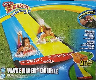 New   Wham O Slip N Slide Wave Rider Double With 2 Slide Boogies