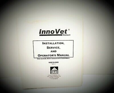 Veterinary X-ray Reference Service Manuals For Summit Innovet