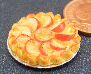 1-12-Scale-Apple-Tart-Dolls-House-Miniature-Kitchen-Food-Dessert-Accessory-D32