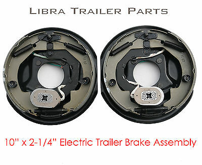 "New 10"" x 2-1/4"" electric trailer brake assembly left + right for 3500 lbs axle"