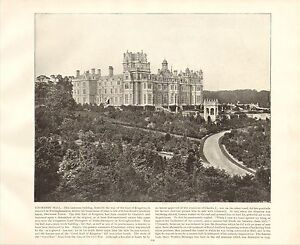 1894-VICTORIAN-PRINT-THORESBY-HALL-EARL-OF-KINGSTON-NOTTINGHAMSHIRE-WITH-TEXT