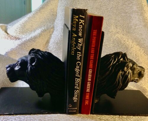 Lion Head Bookends