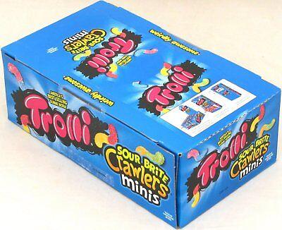 Trolli Sour Brite Mini Crawlers Gummy Worms Candy Bulk Box 24 Pouches 3 - Trolli Sour Gummy Worms