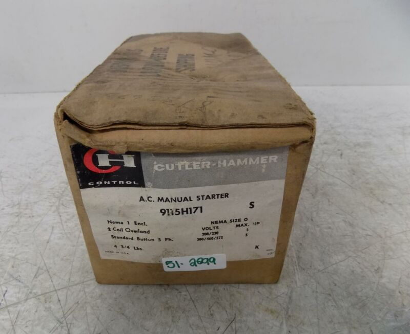CUTLER-HAMMER 3 PHASE AC MANUAL STARTER  9115H171 NIB