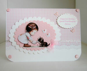 Handmade-personalised-granddaughter-Goddaughter-1st-2nd-3rd-4th-Birthday-card