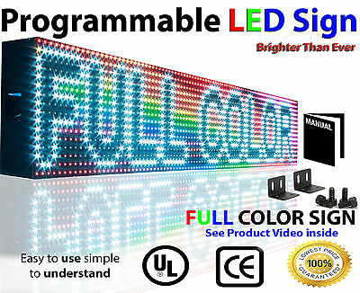 Led Full Color Sign P10 6 X 50 Programmable Scrolling Text Outdoor Message