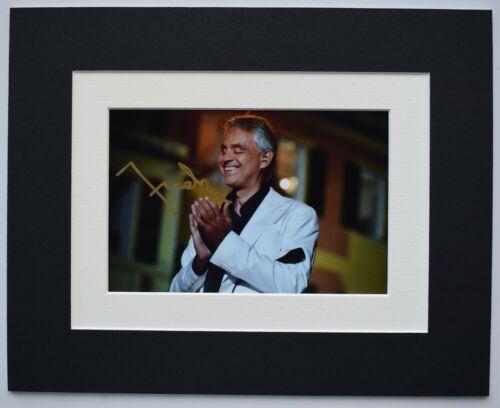 Andrea Bocelli Signed Autograph 10x8 photo display Music Opera Classical COA
