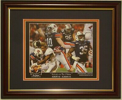 AUBURN Tigers vs Alabama 2019 Iron Bowl 48- 45 framed print Bo Nix Pat -