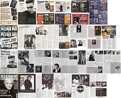 JOHNNY CASH : CUTTINGS COLLECTION -adverts interview-