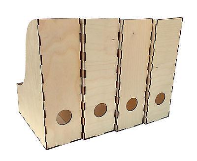 Stehsammler aus Holz Stehordner Büchersammler Zeitschriftenbox  (9)