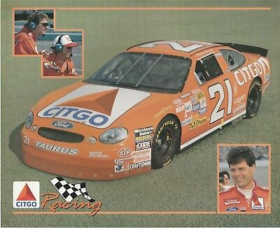 MICHAEL WALTRIP 8X10 COLOR PHOTO RACING DRIVER CITGO CAR #21 - Michael Waltrip Racing Driver