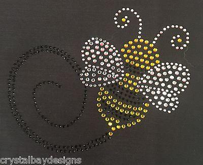 Bumble Honey Bee Baby Child Cute Rhinestone Bling Transfer Hot Fix Iron On 51-34 ()