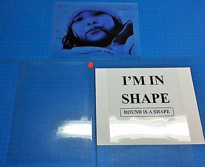 PREMIUM Transparency film inkjet paper pack of 5 SHEETS(8.5x11) U.S stocked