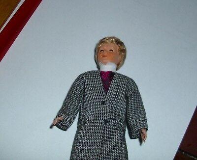 Puppenstubenpuppe, Miniatur 1:12, Caco (Canzler), Mann elegant bekleidet