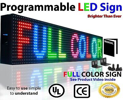 Indoor Outdoor Window Led Signs 7 X 63 Programmable Still Scrolling Display